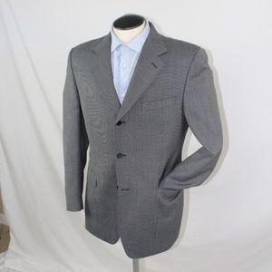 Canali grey grenadine 3 button blazer 42R US